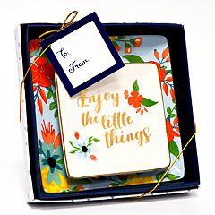 New View 'Little Things' Floral Trinket Tray 2-piece Set