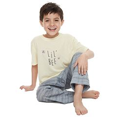 Boys 4-20 Jammies For Your Families 'Lil Bee' Tee & Bottoms Pajama Set