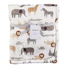 Baby Carter's Velboa & Sherpa Safari Blanket