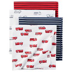 Baby Carter's 4-pack Fire Truck Flannel Receiving Blankets