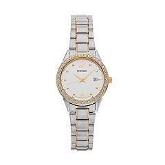 Seiko Women's Crystal Two Tone Stainless Steel Watch - SUR675
