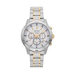 Seiko Men' Two Tone Stainless Steel Chronograph Watch - SKS607