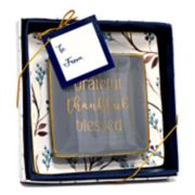 "New View ""Blessed"" Floral Trinket Tray 2-piece Set"