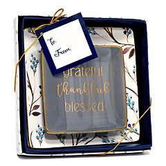 New View 'Blessed' Floral Trinket Tray 2-piece Set