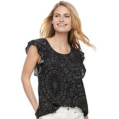 Women's SONOMA Goods for Life™ Pintuck Flutter Top