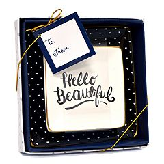 New View 'Hello Beautiful' Trinket Tray 2 pc Set