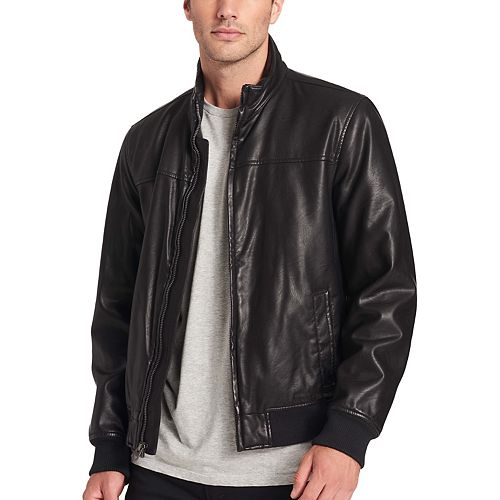 21344cb9f Men's Dockers Carson Faux-Leather Bomber Jacket