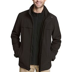 Men's Dockers Jackson Softshell Performance Car Coat with Microfleece Bib