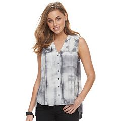 Women's Rock & Republic® Tie-Dye Tulip-Back Shirt