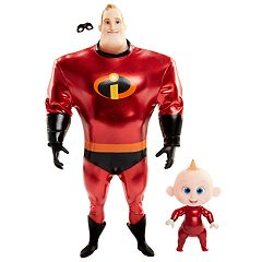 Disney / Pixar The Incredibles 2 Mr. Incredible + Jack Jack 11' Action Figure Set