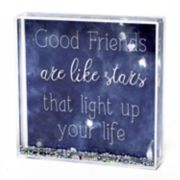"""New View """"Friends"""" Square Glitter Globe Table Decor"""