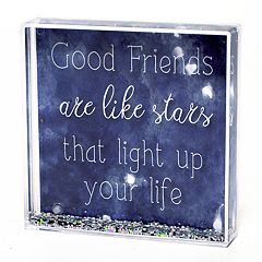 New View 'Friends' Square Glitter Globe Table Decor