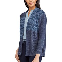 Petite Chaps Patchwork Space-Dye Cardigan Sweater