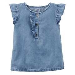 Baby Girl Carter's Ruffle Chambray Top
