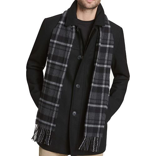 Men's Dockers Wool-Blend Walking Jacket with Plaid Scarf