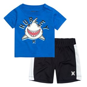 Baby Boy Hurley Shark Graphic Tee & Shorts Set