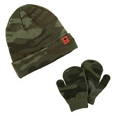 Baby Boy Carter's Camo Hat & Mittens Set