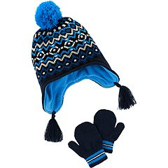 Baby Boy Carter's Fairisle Pom Hat & Mittens Set
