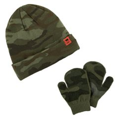 Toddler Boy Carter's Camo Hat & Mittens Set