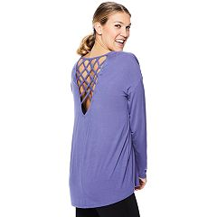 Women's Gaiam Mystic Strappy Long Sleeve Yoga Top