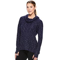 Women's Gaiam Hooded Thumb Hole Yoga Top