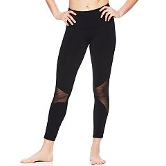 Women's Gaiam Stripe Mesh High-Waisted Leggings
