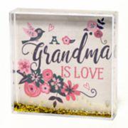 """New View """"Grandma"""" Square Glitter Globe Table Decor"""
