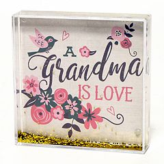New View 'Grandma' Square Glitter Globe Table Decor