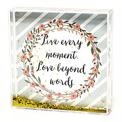 New View 'Love' Square Glitter Globe Table Decor
