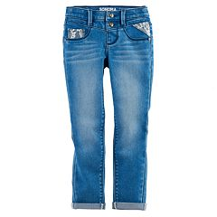 Girls 4-12 SONOMA Goods for Life™ Lace Detail Jeggings