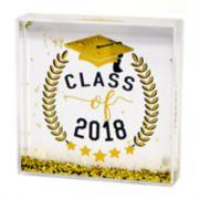 "New View ""Class of 2018"" Square Glitter Globe Table Decor"