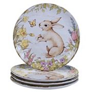 Certified International Bunny Patch 4 pc Dinner Plate Set