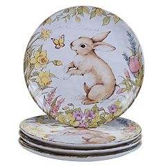 Certified International Bunny Patch 4-pc. Dinner Plate Set