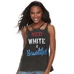Women's Rock & Republic® 'Red White & Beautiful' Graphic Tank