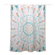 Simple by Design Peach Medallion 13-piece Shower Curtain Set