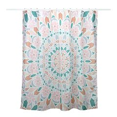 Simple by Design Peach Medallion 13-piece Shower Curtain Set