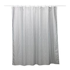 Simple by Design Gray Check 13-piece Shower Curtain Set
