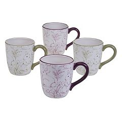 Certified International Bunny Patch 4-pc. Coffee Mug Set