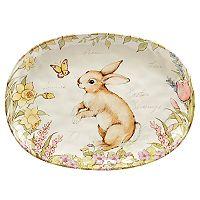 Certified International Bunny Patch Oval Serving Platter