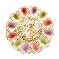 Certified International Bunny Patch 3D Egg Plate
