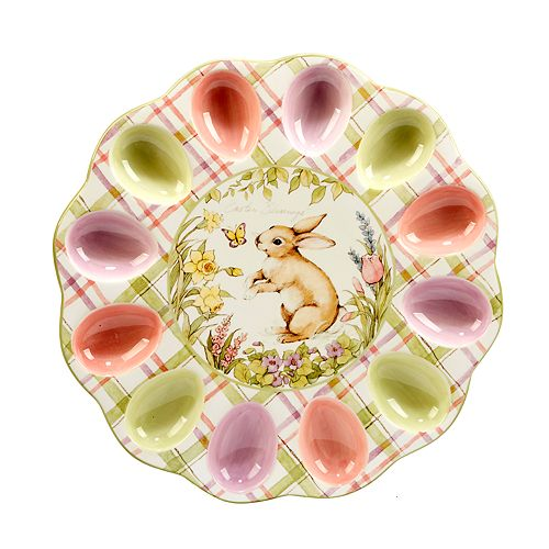 Bunny Patch 3D Egg Plate