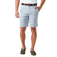 Men's Haggar® Cool 18® PRO Straight-Fit Windowpane Stretch Flat-Front Shorts