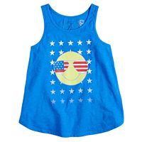 Girls 7-16 & Plus Size SO® Lace-Up Back Americana Tank Top
