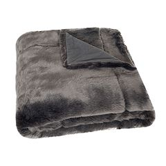 Safavieh Silver Fox Faux Fur Throw