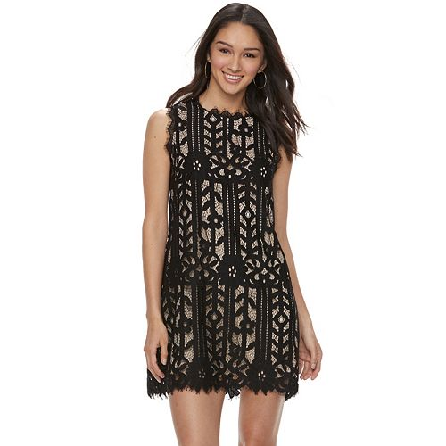 Juniors' Speechless Floral Lace Shift Dress