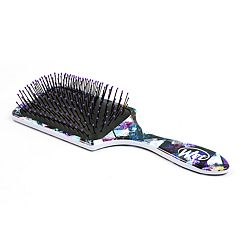 Wet Brush Paddle Detangler Hair Brush - Purple Splash
