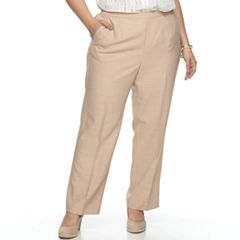Plus Size Alfred Dunner Studio Pull-On Flat Front Pants