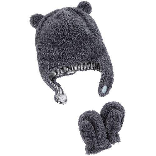 b693c60e51c Baby Carter s Sherpa Hat   Mittens Set