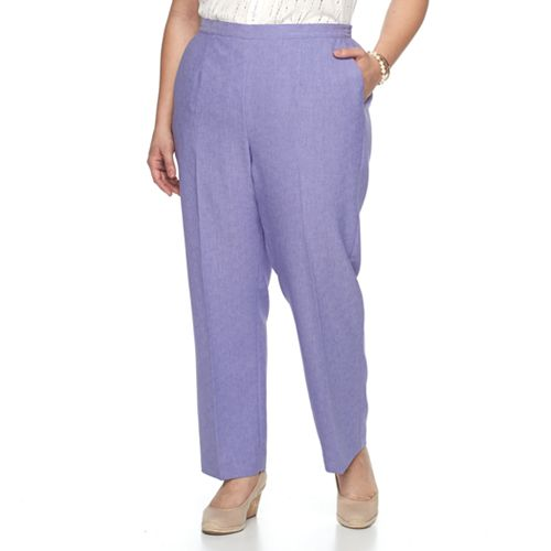 6b5b12ef866 Plus Size Alfred Dunner Studio Pull-On Straight Leg Pants