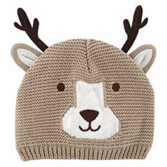 Baby Carter's Reindeer Knit Hat